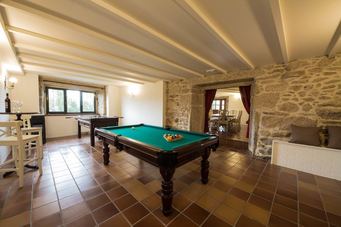 Stone house with billiards